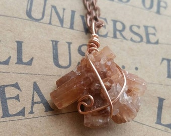 Aragonite Necklace /\ Copper