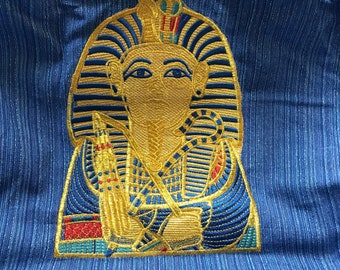 tote, King Tut, embroidered
