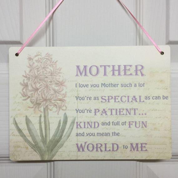 Personalised Mirror R Christmas Gift Mum Mummy Gran Nan
