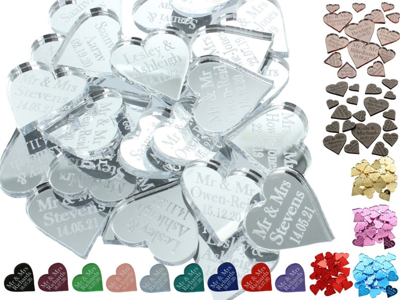 Wedding Favours Personalised Table Decorations Love Hearts Confetti Centrepiece Venue Decor Anniversary Party Favor Gifts LittleShopOfWishes