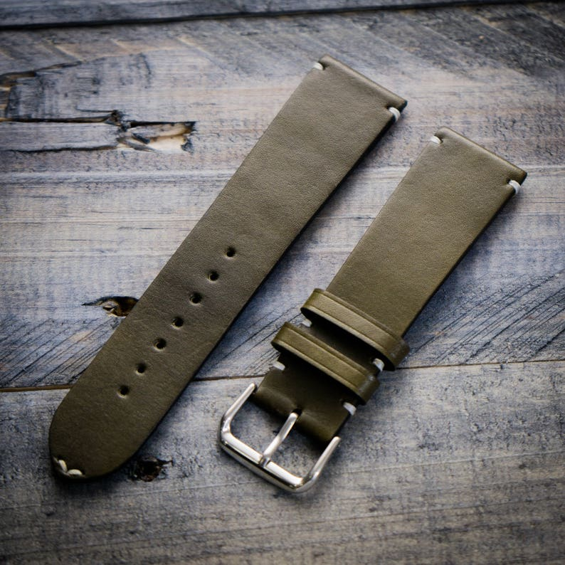 H'annson Strap Handcrafted leather watch strap 22mm Vegetable tanned  leather watch strap 18 mm 20 mm watch band 22 mm 24 mm watch strap