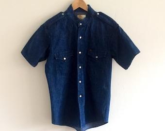 d9683da8f0 Vintage mens denim shirt