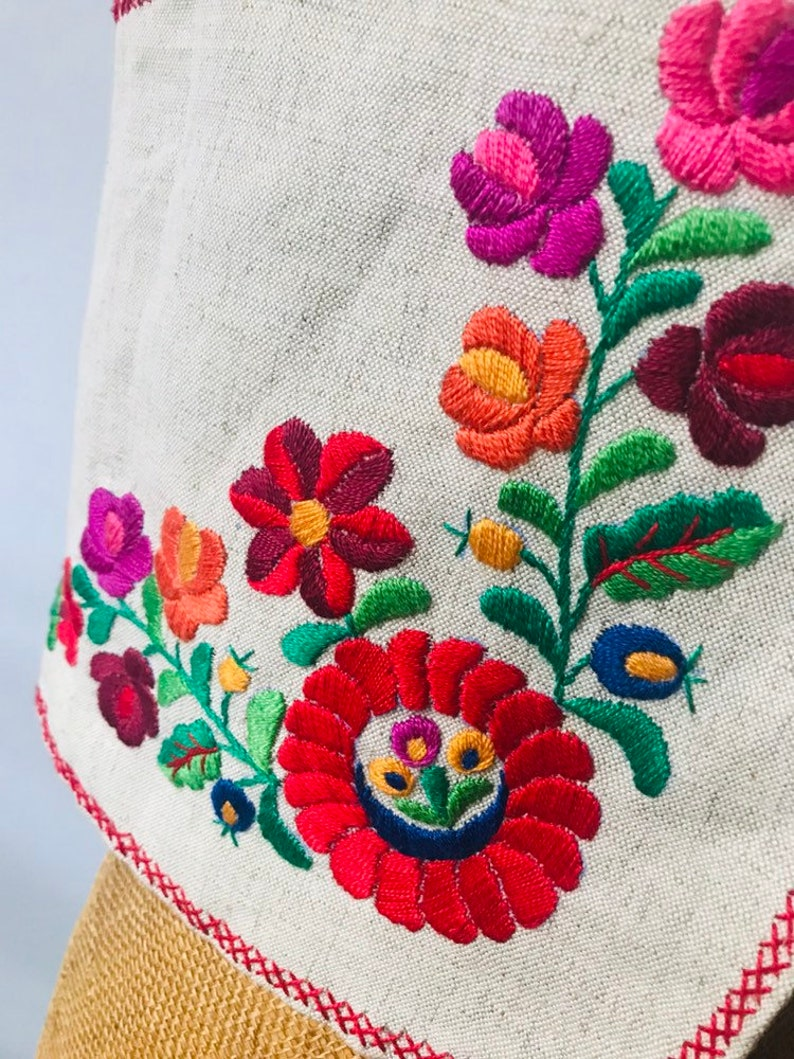boho folk hippie artistic ethnic feminine tomboy country cotton and wool Womens vintage embroidered floral vest