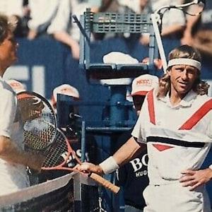 Tg Made in Germany 1991 Ultra Rare impossible to find L Vintage T-shirt POLO TENNIS Schwarzenbach Sport und Freizeit