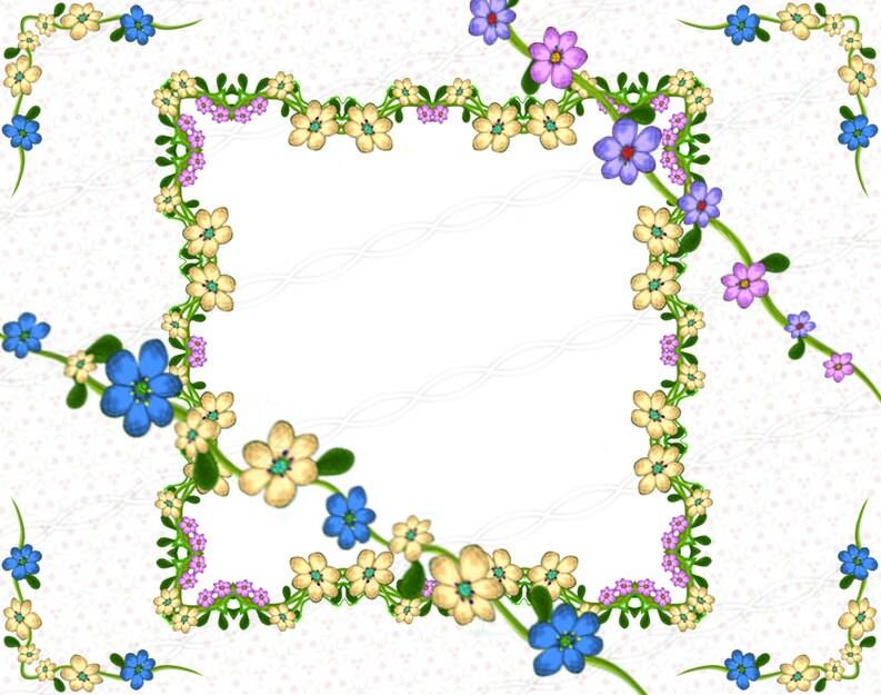 Instantánea descargar png flor marco gráfico laurel guirnalda ...