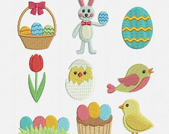 Mini Easter Machine Embroidery Designs Pack -  9 Designs
