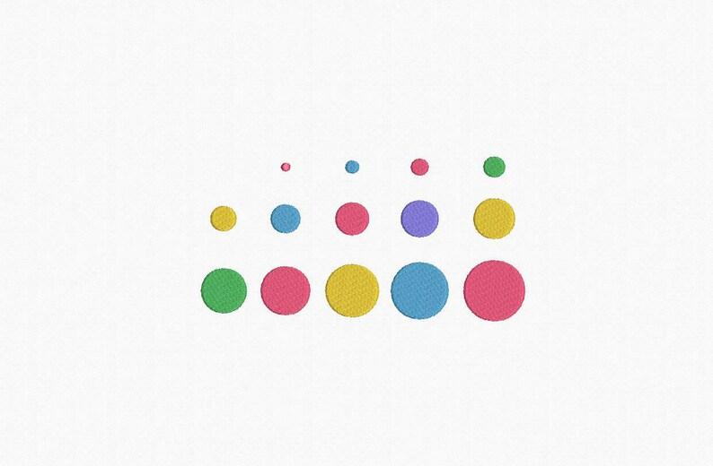 Polka Dots Machine Embroidery Design  14 Sizes image 0