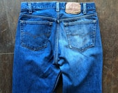 Made in USA Faded Levi s 501 Blue Jeans 30x31 (Measured)