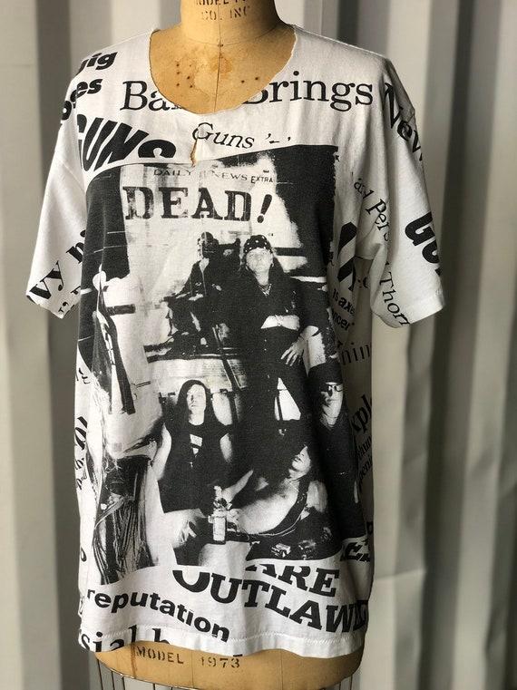 Rare 1991 Guns N Roses Dead! All Over Print Newspa