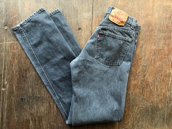 Levi's Made in USA 501 Faded Black Denim Jeans 27x