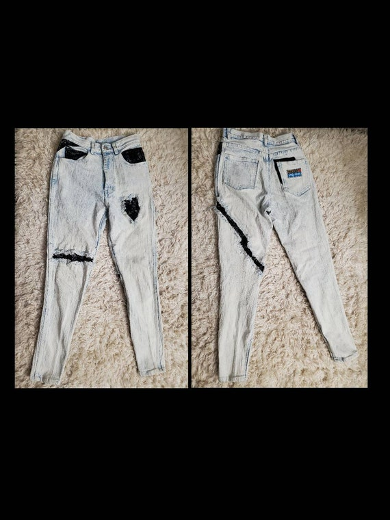 Acid Wash with Lace Jeans Vintage 80's - image 1