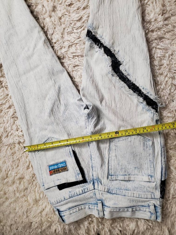 Acid Wash with Lace Jeans Vintage 80's - image 5