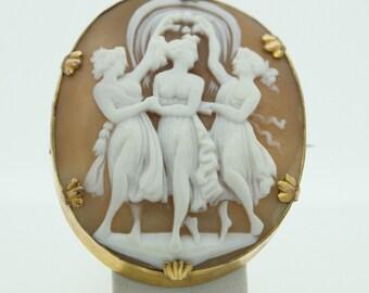 Three graces Cameo brooch (SKU476)