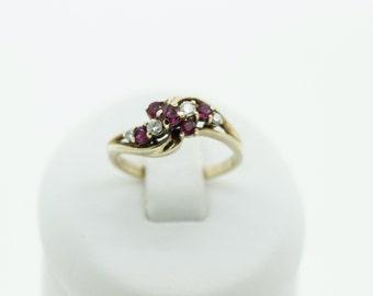 An Interesting Ruby and Diamond  Ring  SKU764