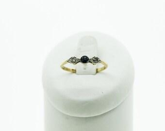 Art Deco Style Sapphire And Diamond Ring   SKU41
