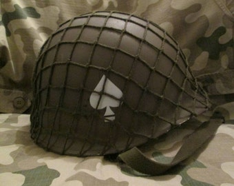 WW2 US 101st Airborne Helmet with Net