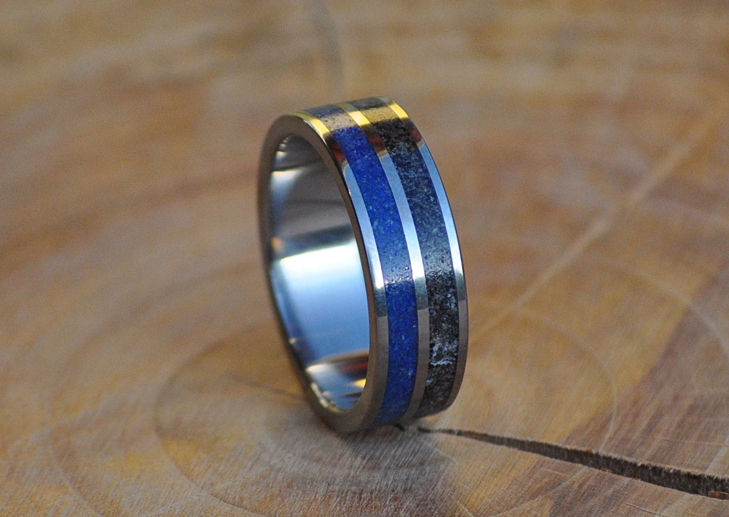 Stainless Steel Ring For Women And Men With Lapis Lazuli And Etsy
