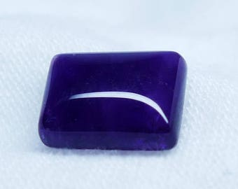 Rectangle Purple Amethyst Polished Gemstone Cabochon - AAA Quality - 9 * 7 mm