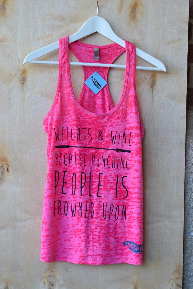 e2d600af5b2b Weights and Wine Workout shirt Lift Heavy Workout Shirt