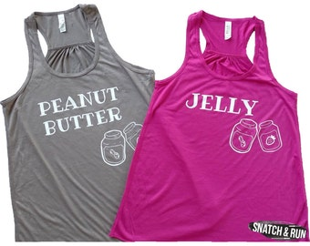 Peanut Butter & Jelly Tanks - Partner Tanks, Competition Tanks, Weightlifting Love Tank