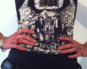 Napalm Death Dress Rare Scum Print Punk Crust Death Metal