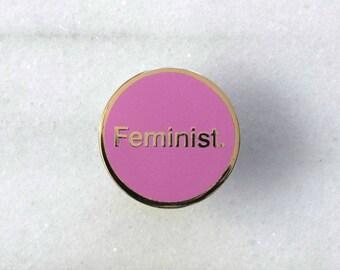 Feminist. - Enamel Pin, Lapel pin, Pins, Enamel Pins, Pin, Gold enamel pin, Hard enamel pin, Feminist pin, Feminist badge.