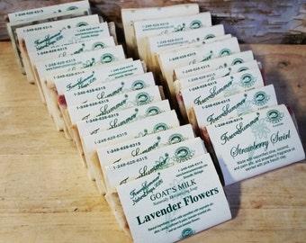 25 Individual Natural Soap Favors