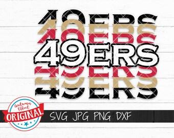 49ers Football Svg Etsy