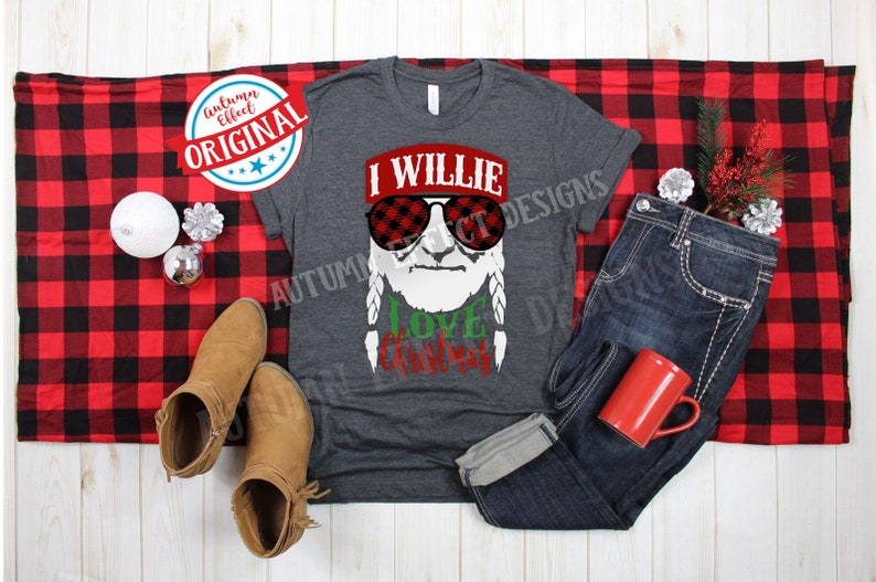 Download I Willie Love Christmas SVG DXF Willie Nelson Buffalo ...