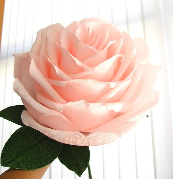 Fleur Geante De Lumiere Rose En Papier Rose Geant Rose Etsy