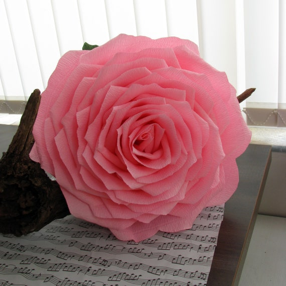 Giant 15 Pink Paper Flower Bridal Bouquet Giant Rose Etsy
