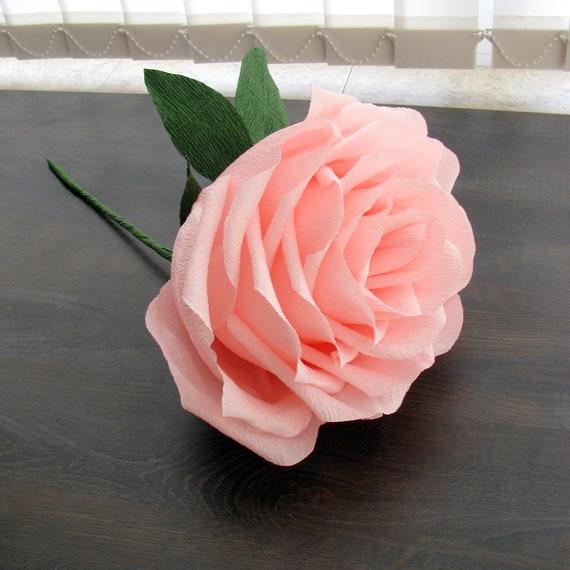 Rose 9 Geant Rose Papier Fleur Geante Fleur En Papier Etsy