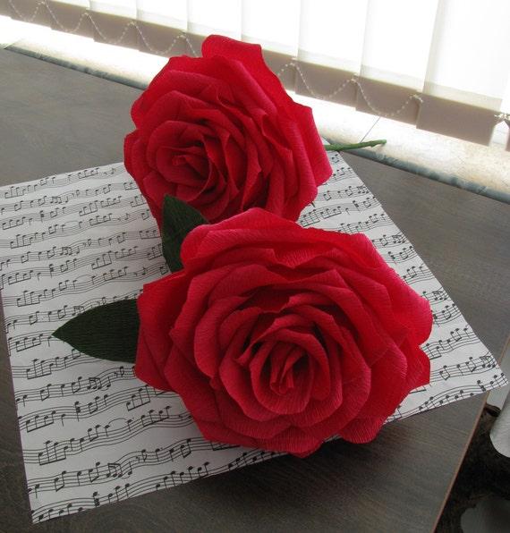 Giant Paper Rose 7 Giant Paper Flower Bridal Bouquet Etsy