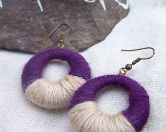 Original Creole earrings wool-cotton