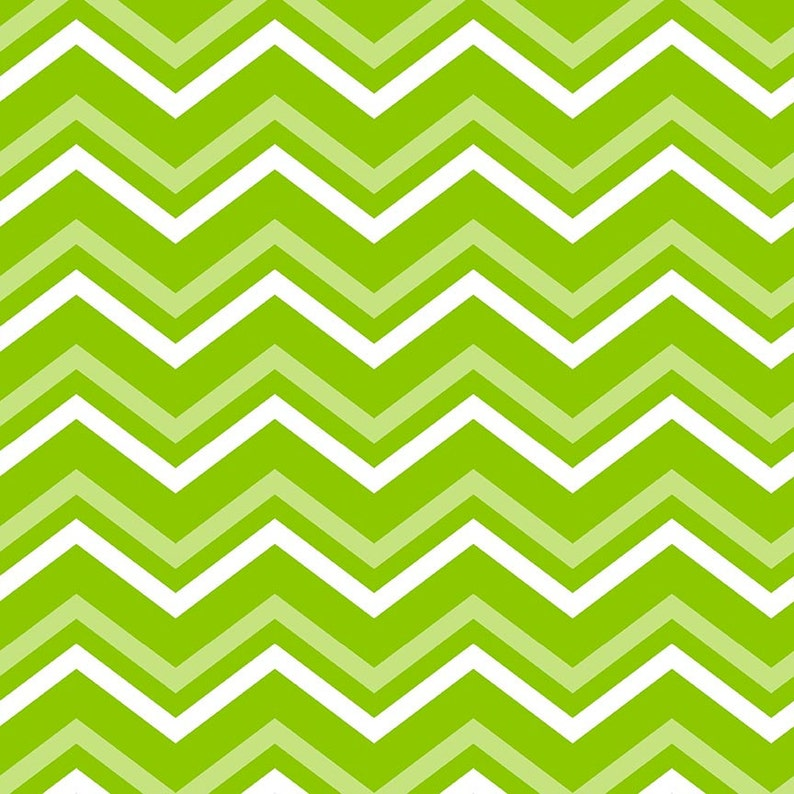 Lime Green Chevron Digital Paper 20 Chevron Scrapbook Paper Pack DOWNLOAD Pattern Printable Wrapping Graphics 12x12 JPG PDF