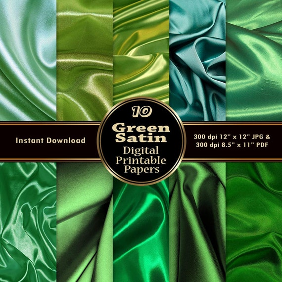 graphic relating to Printable Silk Fabric titled Eco-friendly Silk Satin Electronic Papers Image Pack Printable 10 Routine Material Texture Sbook Mint Eco-friendly Emerald Inexperienced Prompt Obtain