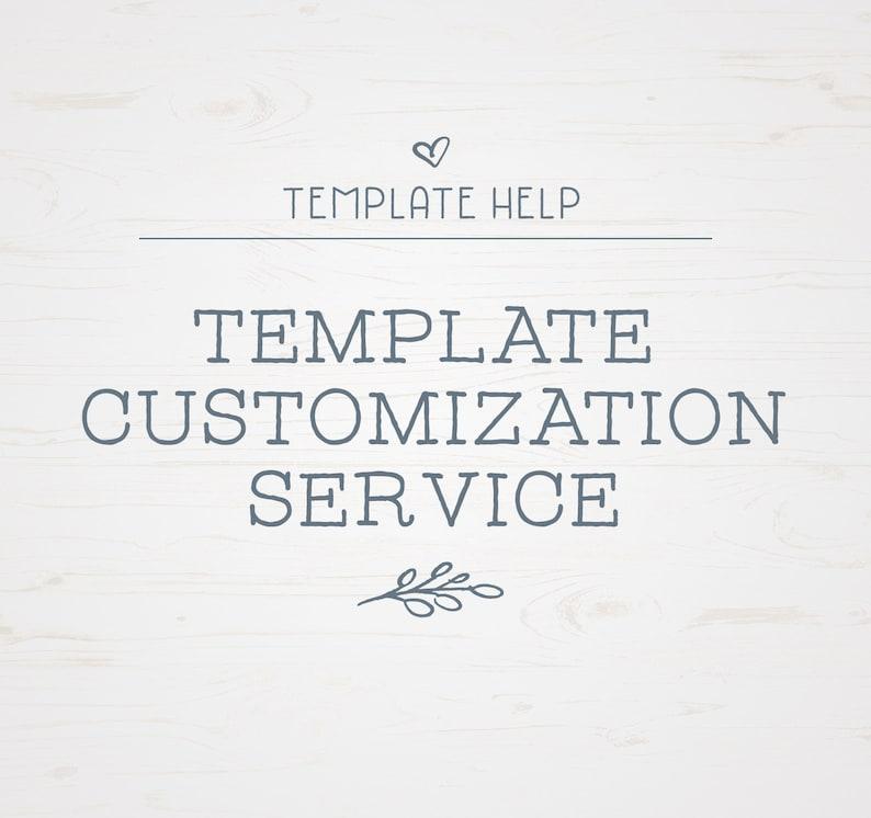 Template Customization  Card Customization Service  Template image 0