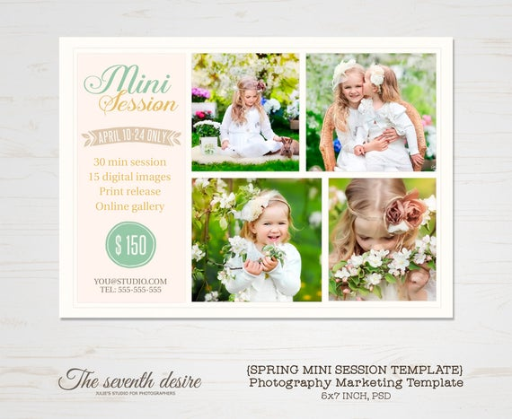 Mini Session Template Photography Marketing Templates Etsy