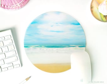 mouse pad beach | mousepad beach | mousepad round | cute desk accessories