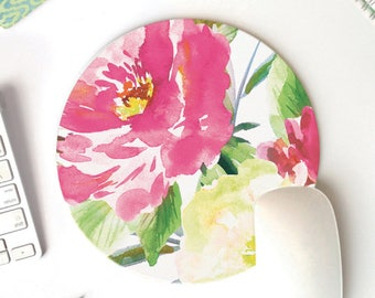 floral mouse pad | cute desk accessories | mousepad
