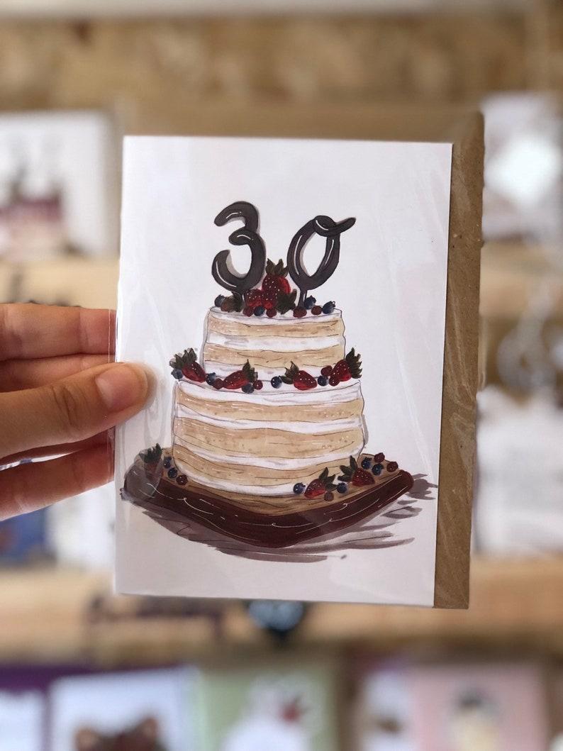 30th Birthday Card Cake