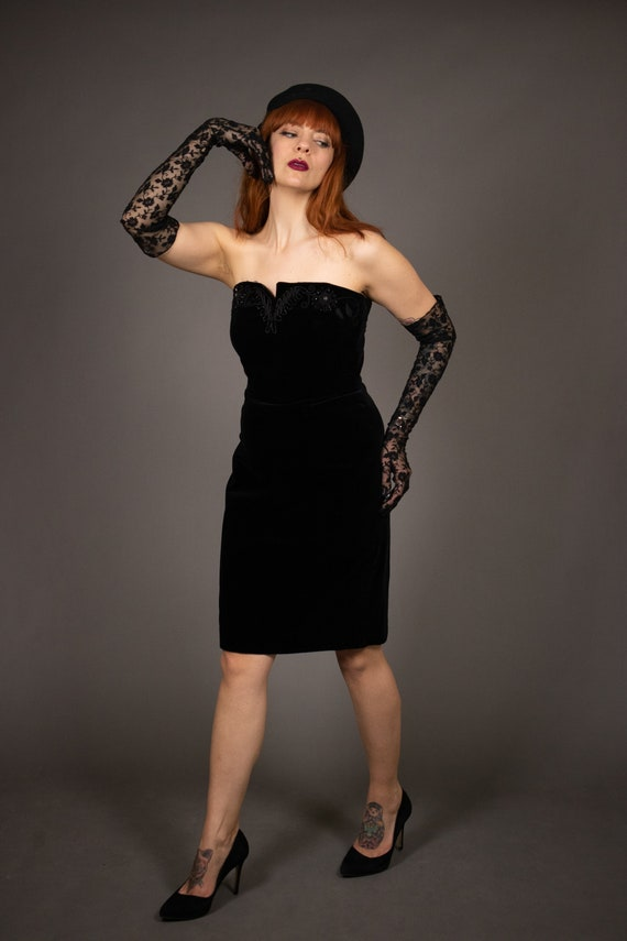 1980's Bustier Cocktail Dress - 1980's Evening be… - image 5