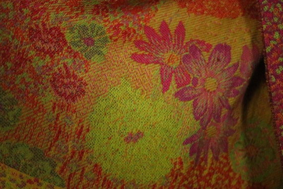 1970's KENZO Large Floral Wool Scarf - image 3