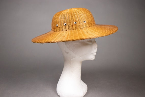 1940's Colonial hat sturdy straw hat - 1940's Col… - image 2