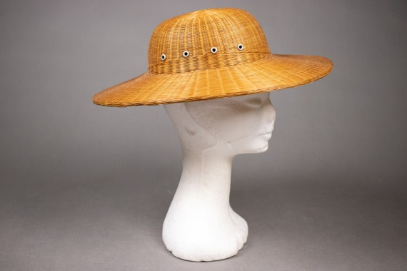 1940's Colonial hat sturdy straw hat - 1940's Col… - image 3