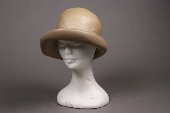 1920's Straw and leather Summer Cloche Hat -  20'… - image 5