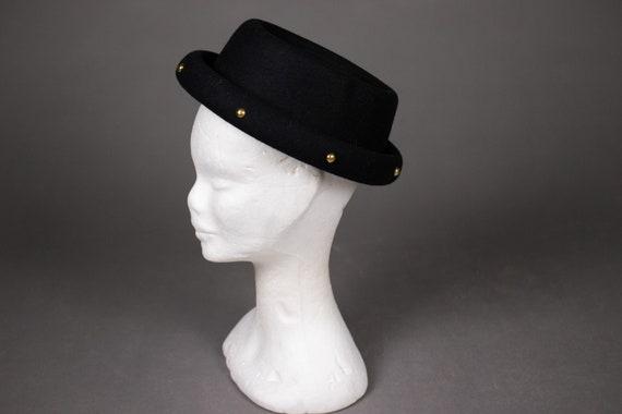 1950's Black Felt and Golden Studs Top Hat