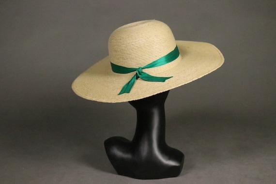 1960's Straw Capeline Hat - 60's Straw Beach Hat