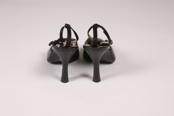 1990's GIANNI VERSACE Black Pointy Shoes - 90's B… - image 7