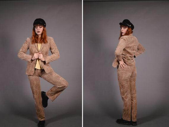1990's ETIENNE AIGNER Paisley Manchester Suit - 90
